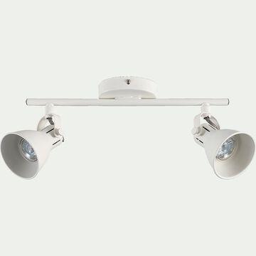 Barre de 2 spots LED L37xH6,50cm - blanc-SERAS
