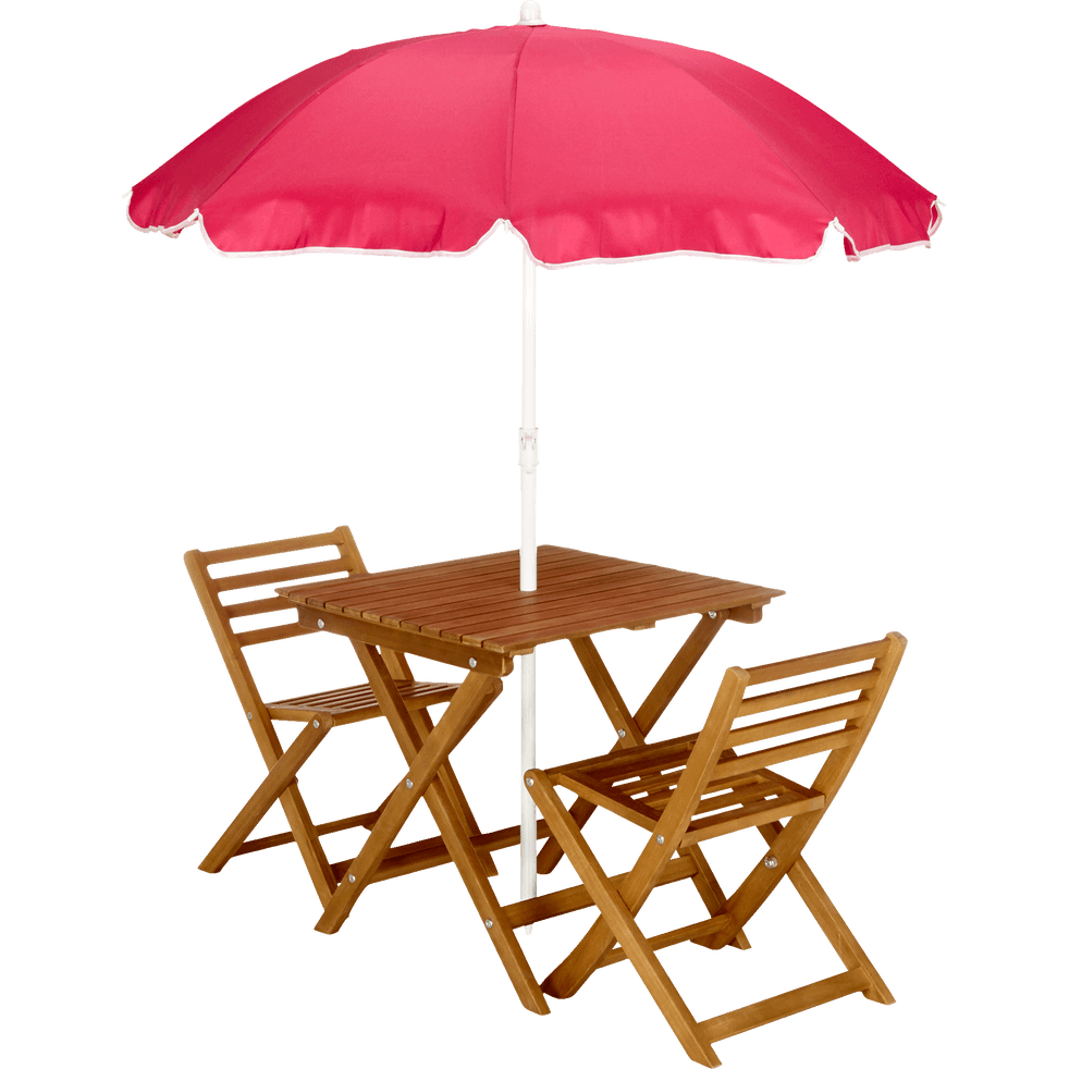 table de jardin pour enfant en acacia sola mobilier. Black Bedroom Furniture Sets. Home Design Ideas