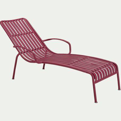 Bain de soleil en aluminium - rouge sumac-Doume