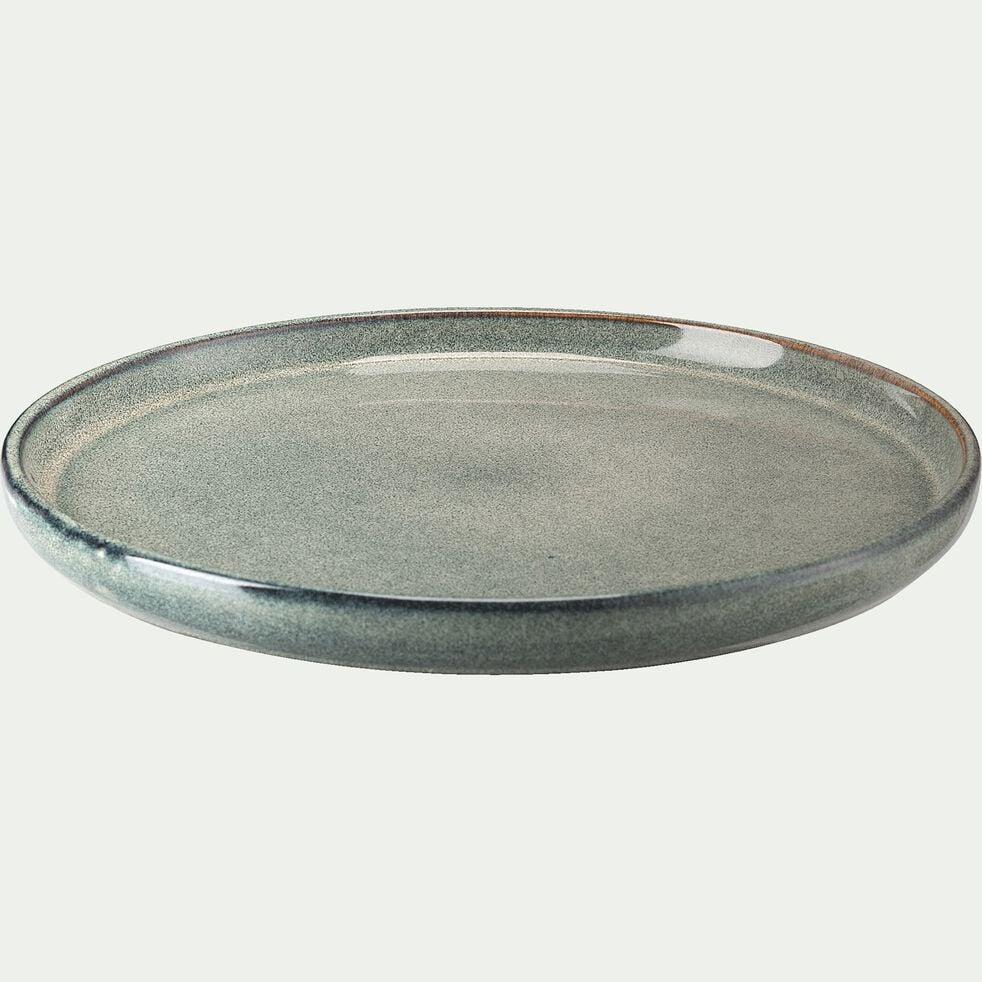Assiette à dessert en grès émail réactif - gris borie D21cm-PIETRA