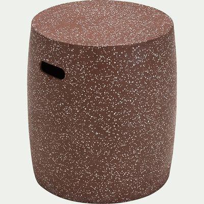 Tabouret de jardin en ciment - rouge sumac-Amalia