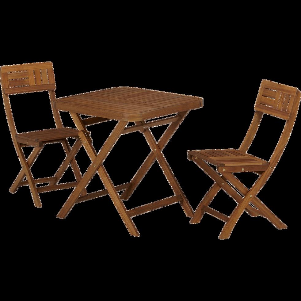 table de jardin pliante en acacia huil 2 places youk tables de jardin alinea. Black Bedroom Furniture Sets. Home Design Ideas