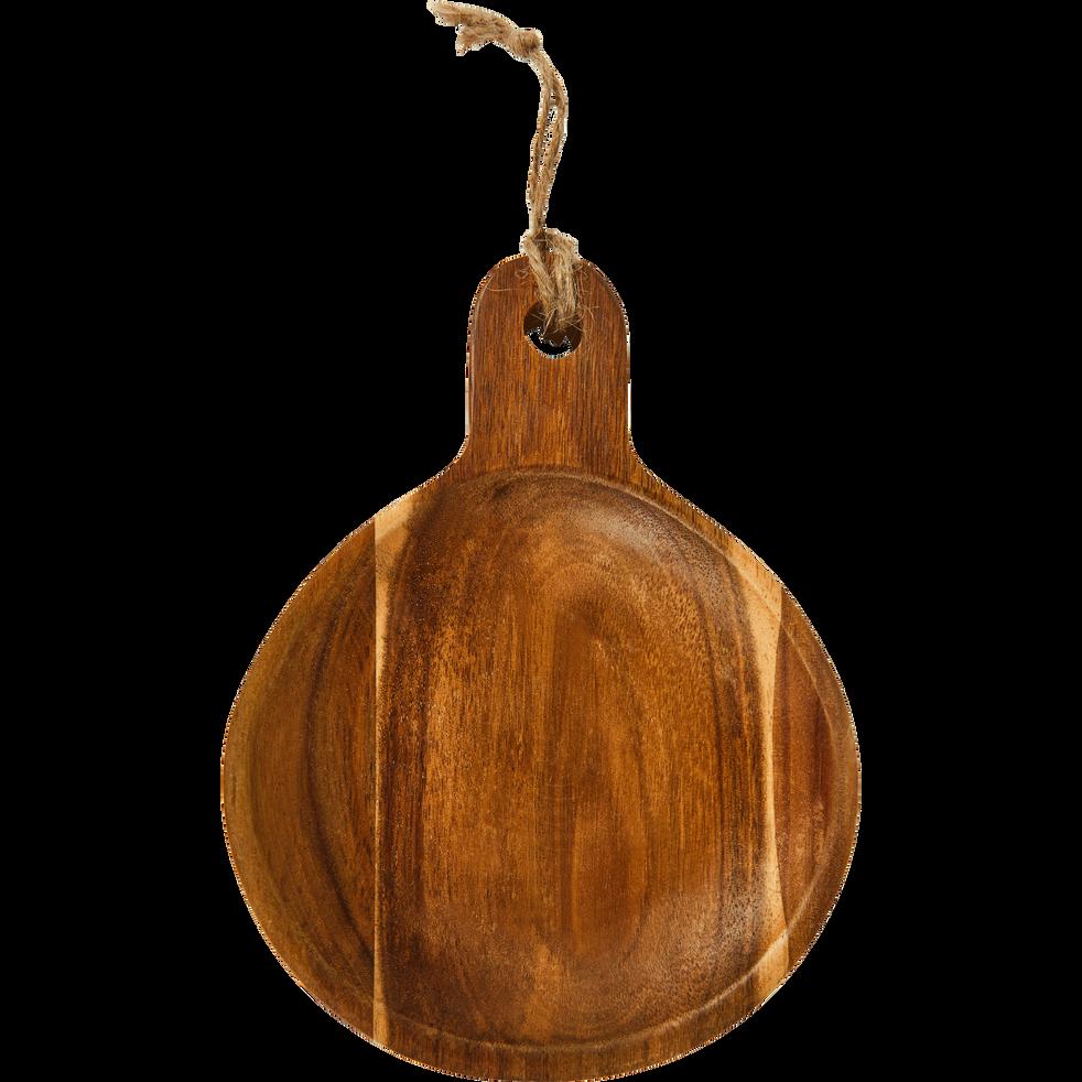 Coupelle ronde en acacia avec manche D15cm-ESTEVE
