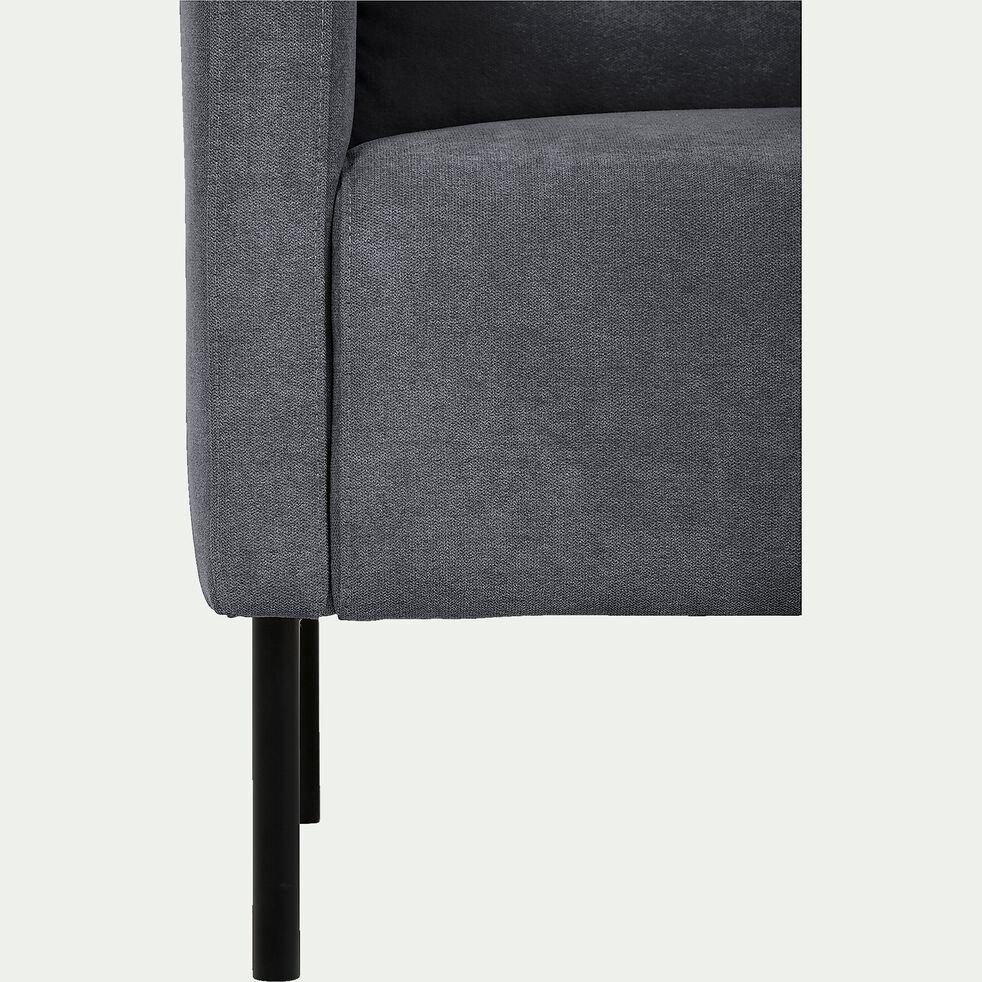 Fauteuil en tissu gris-JENNY