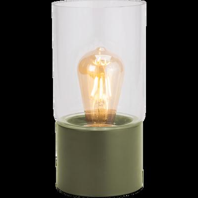 Lampe à poser en métal vert cèdre H24,5cm-MANUE