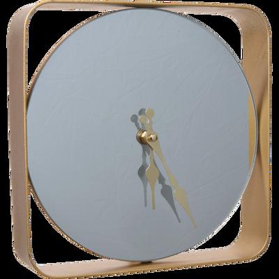 Horloge miroir en fer D24cm-ALTAIR