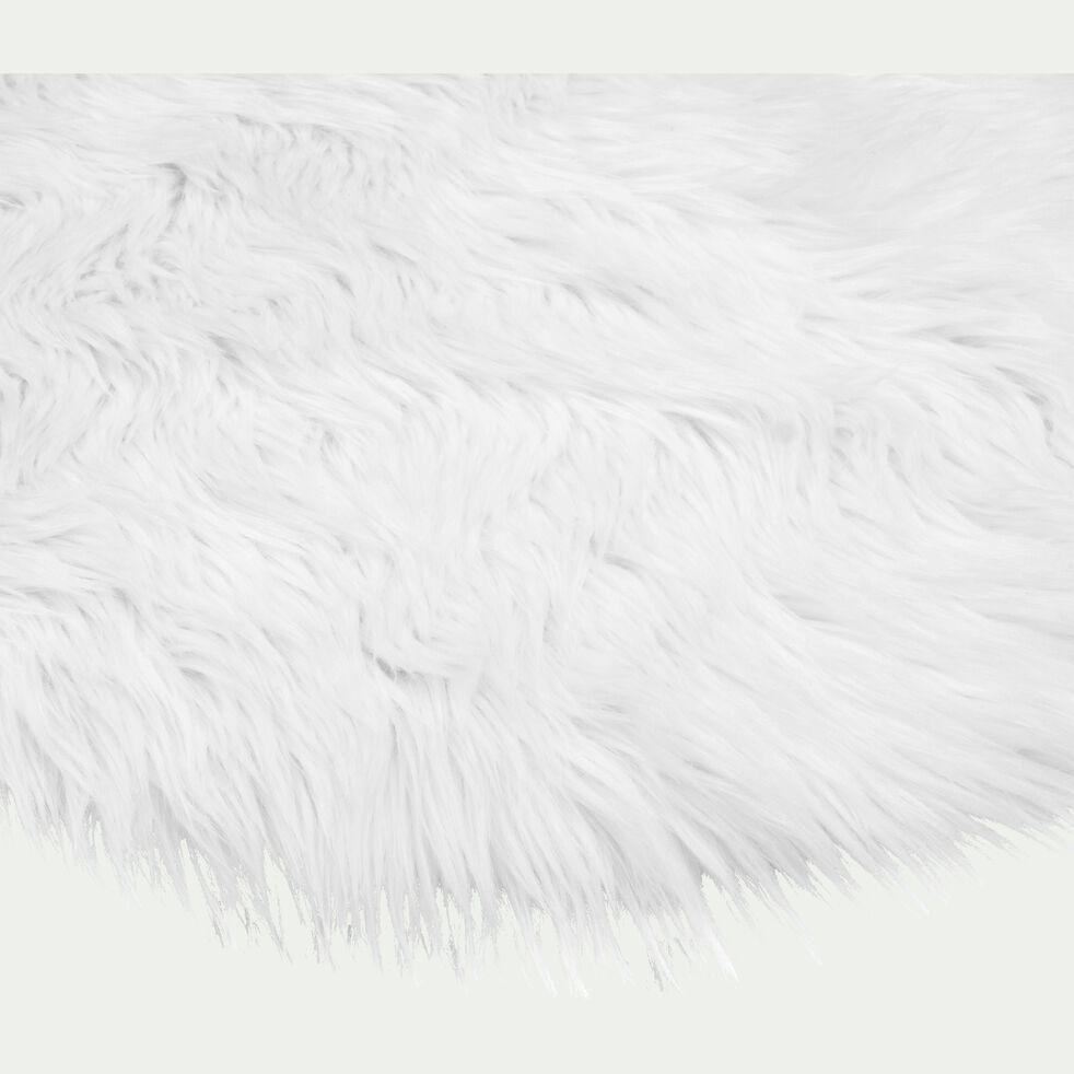 Tapis rond imitation fourrure - blanc D70cm-BUNDCHEN