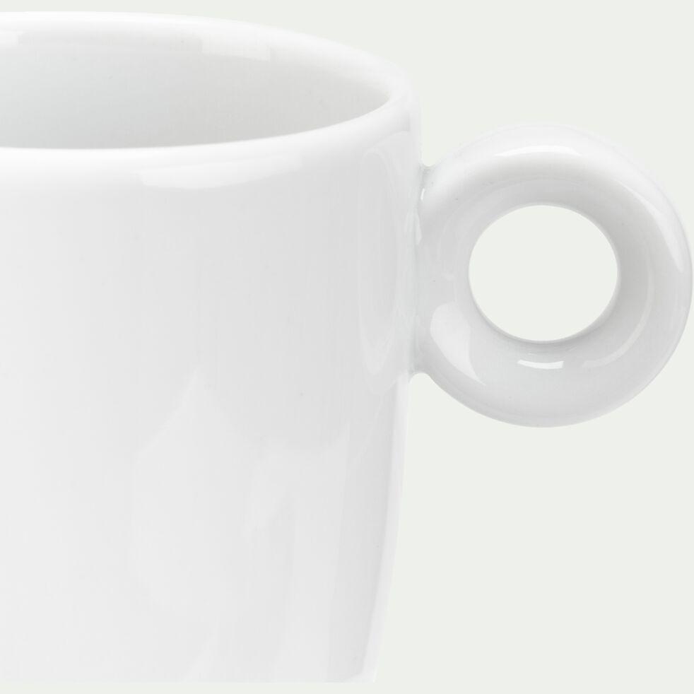 Tasse et soucoupe en porcelaine - blanc 20cl-AZE