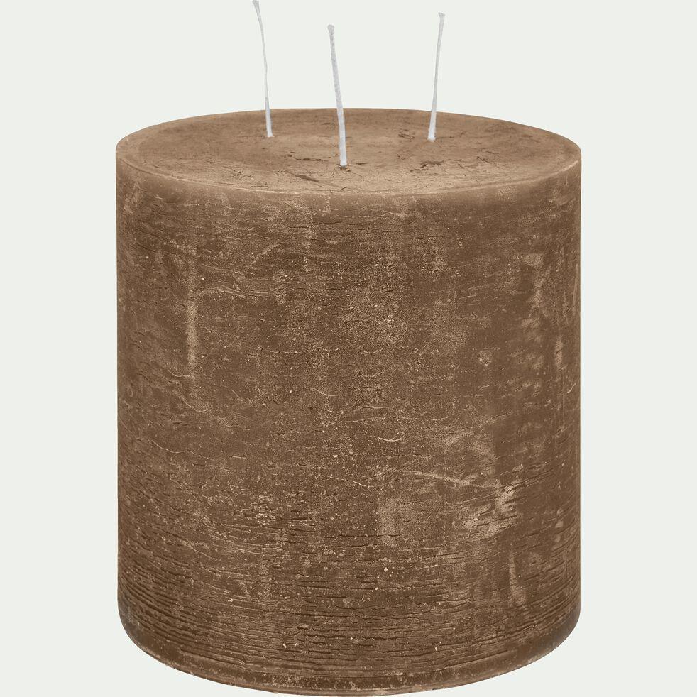 Bougie lanterne - brun albe D15xH15cm-BEJAIA