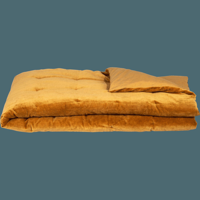EDEN - Édredon en velours beige nèfle 100