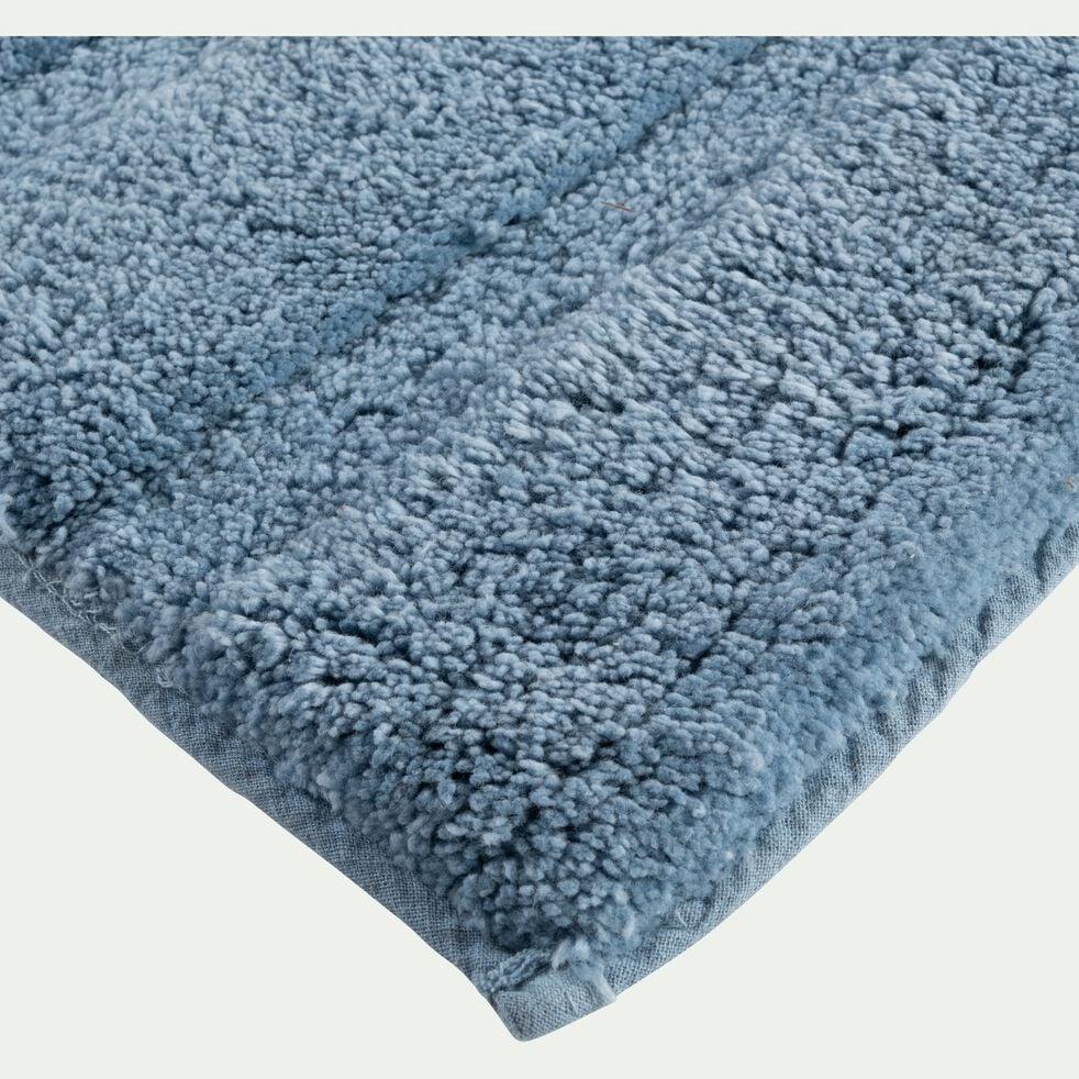 Tapis de bain en coton antidérapant - l50xL80cm bleu autan-Gabin