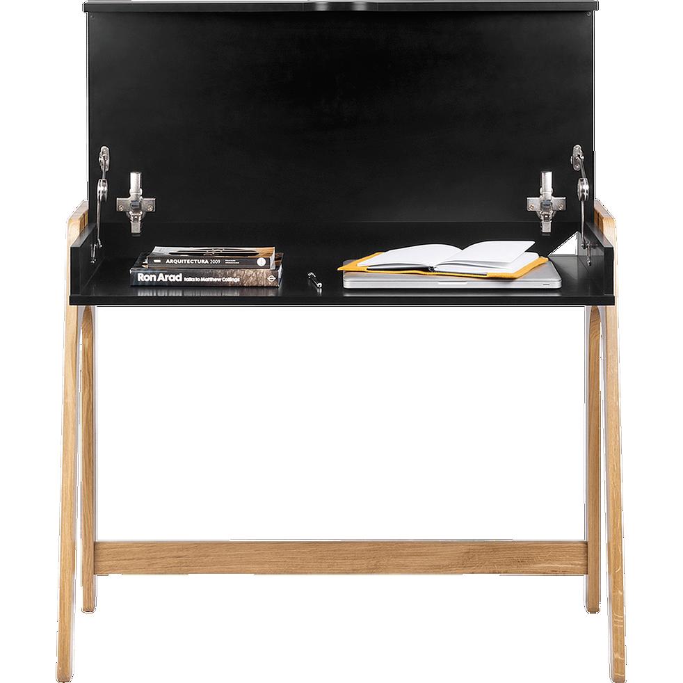 bureau en bois noir avec plateau relevable duc bureaux alinea. Black Bedroom Furniture Sets. Home Design Ideas