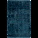 Tapis de bain en coton Bleu figuerolles 80 x 50 cm-JAN