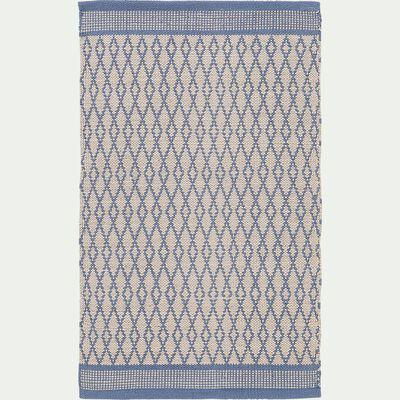 Tapis de cuisine en coton - bleu 50x80cm-SHIVA