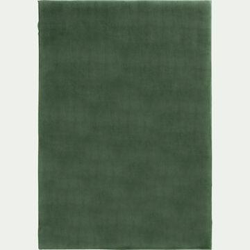 Tapis imitation fourrure - vert cèdre 100x150cm-ROBIN