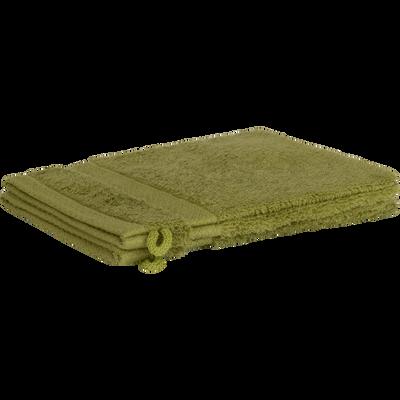 Lot de 2 gants en coton vert garrigue-AZUR