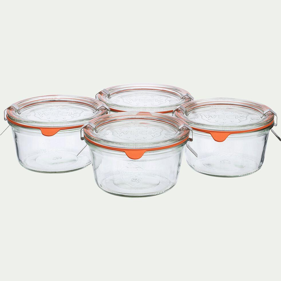 Barquette de 4 bocaux en verre forme basse - 290ml-WECK