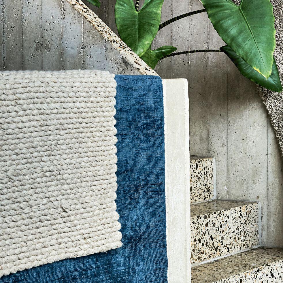 Tapis en laine et coton - gris clair 160x230cm-MAUSSANE