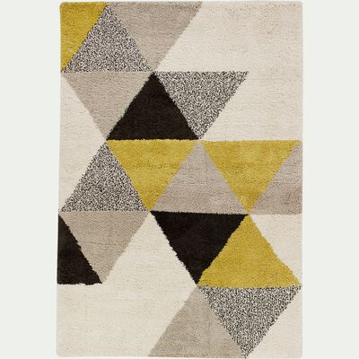 Tapis à motifs géométriques - jaune 200x290cm-OSLO