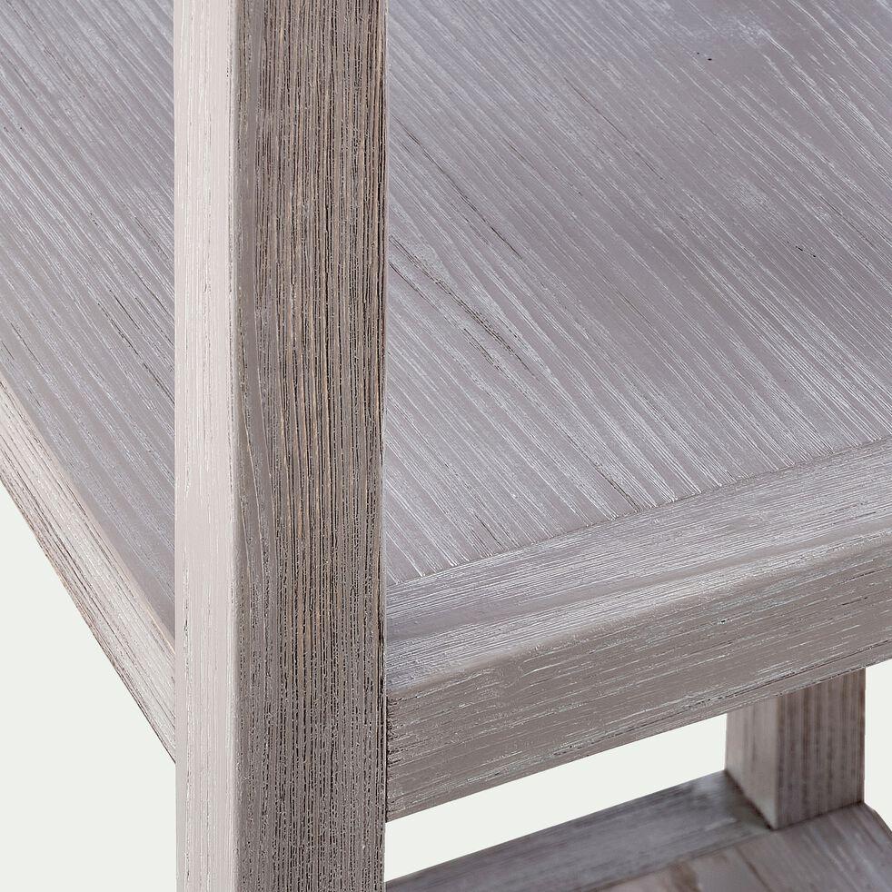 Colonne de salle de bains 5 tablettes en épicéa - gris-Marine