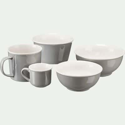 Mug en porcelaine gris borie 35cl-CAFI