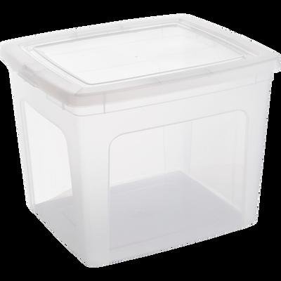 Boîte avec couvercle en plastique 30L-MODULAR