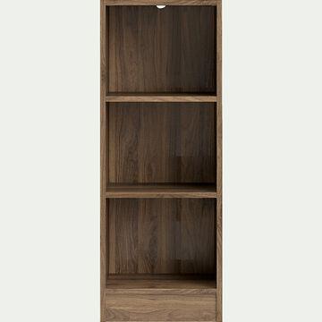 Petite bibliothèque en bois 3 tablettes - noyer H107xL40cm-BIALA