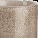 Photophore en verre rose moucheté H8,5 cm-GIULIANO