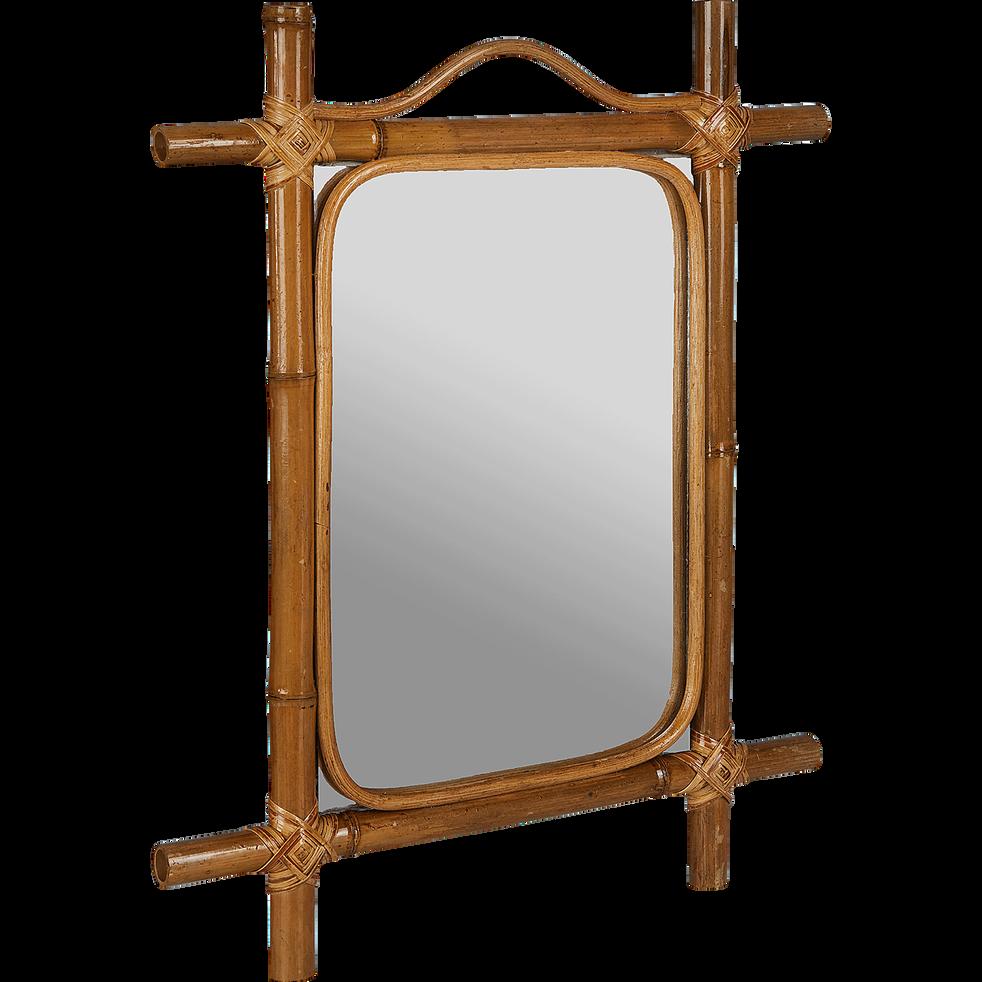 Miroir mural en bambou H50xl40cm-ANITA
