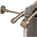 Kit double tringle extensible en acier 210 à 380 cm-LISON