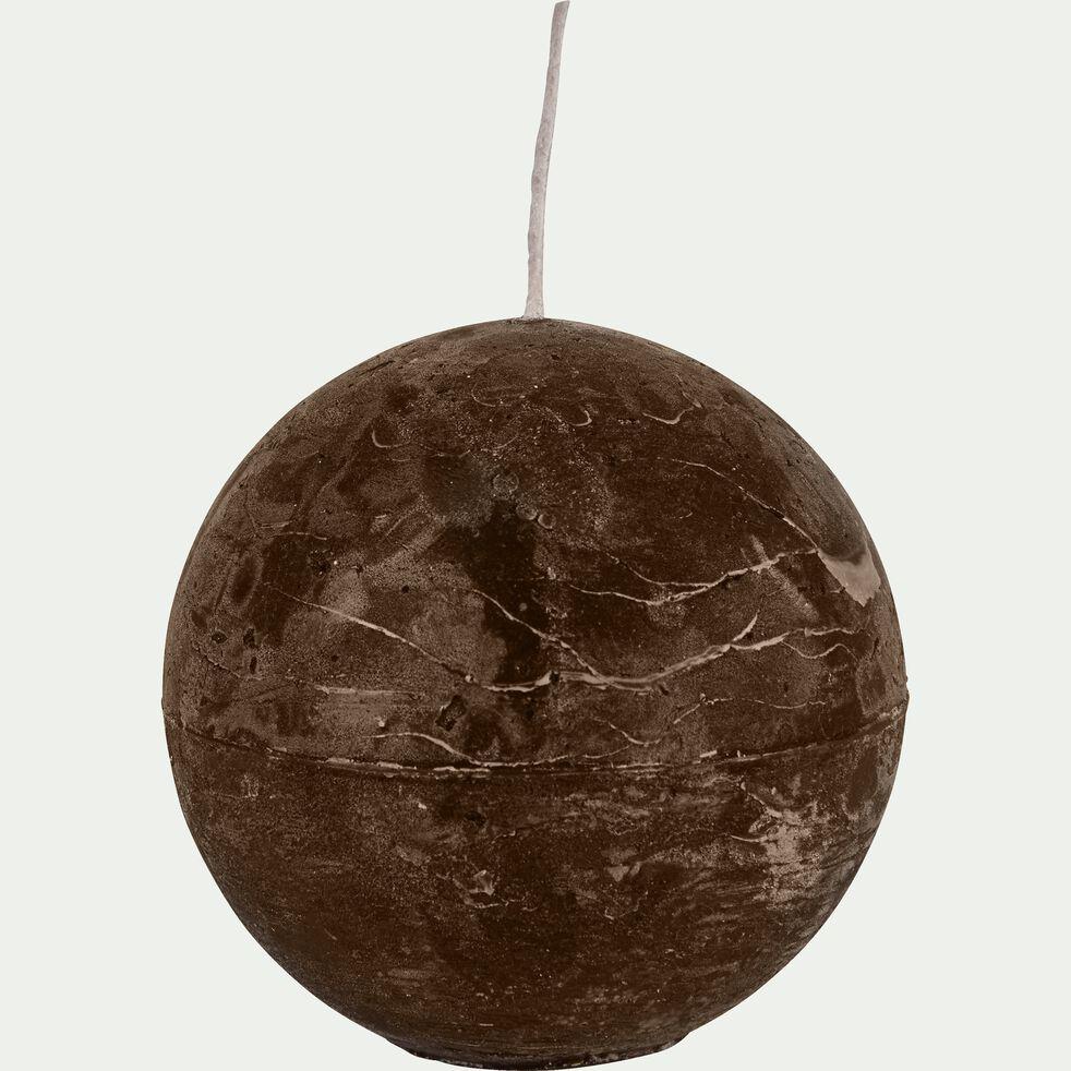 Bougie ronde brun ombre D10cm-BEJAIA