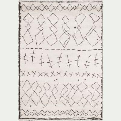 Tapis rectangulaire à motifs écru 120x170 cm-TOINOUCH