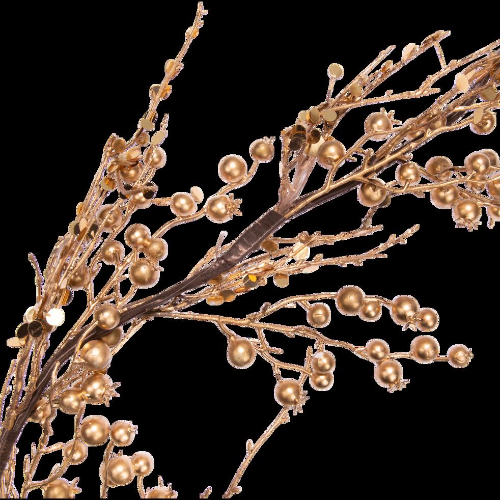 Branchage artificiel doré L110cm-SIEBELLI