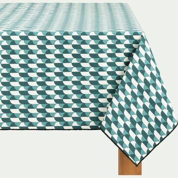Nappe à motifs en coton bleu 140x250cm-ARCA