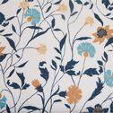 Housse de couette et 2 taies d'oreiller en percale de coton à motifs - blanc 260x240cm-FATINA