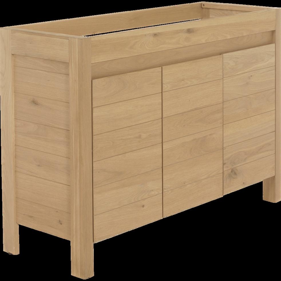 Meuble sous vasque double en ch ne native 120 cm meubles sous vasques alinea - Meuble sous vasque alinea ...