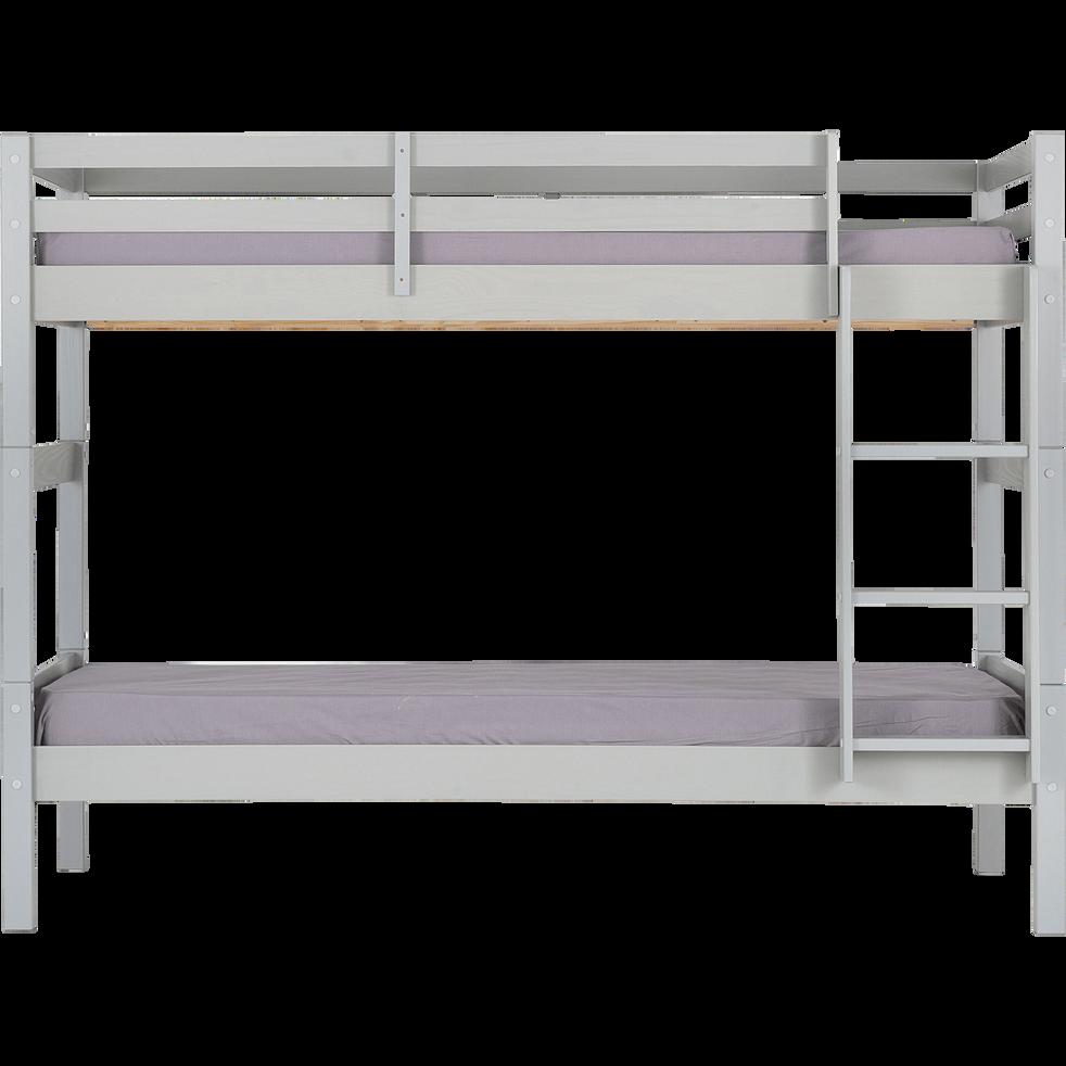 Lits superposés modulables 90x200cm gris-GIGARO
