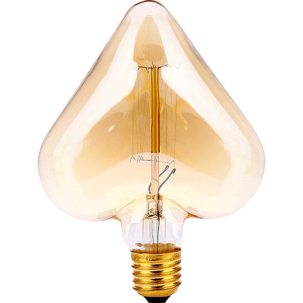 Ampoule décorative à filament forme coeur h16cm...