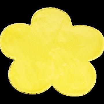 Tapis enfant en forme de fleur D100cm jaune-SWEET