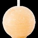 Bougie ronde beige estérel D6cm-BEJAIA