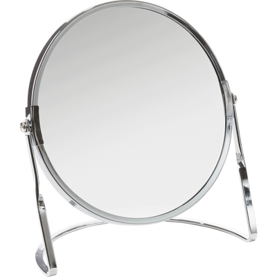 Miroir grossissant chrome brillant diametre 15 cm-Glass