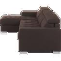 Canapé d'angle fixe réversible en tissu marron-Mauro