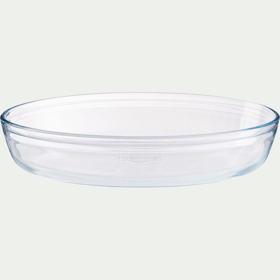 Plat ovale en verre borosilicate 30x21cm-AZET