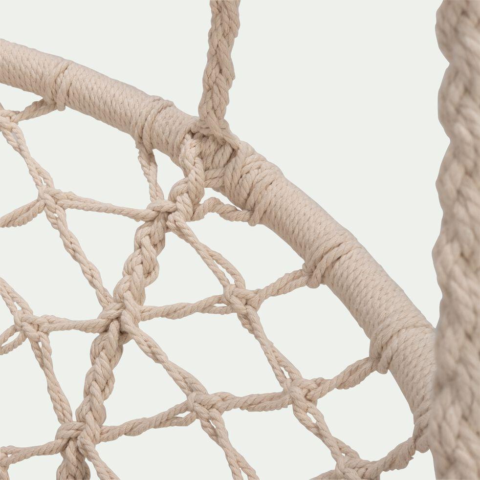 Fauteuil à suspendre en corde écru-FOGGIA