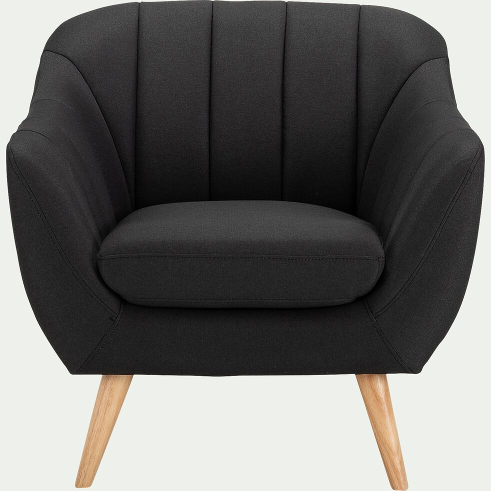 Fauteuil en tissu - gris anthracite-SHELL