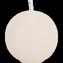 Bougie ronde beige roucas D6cm-BEJAIA