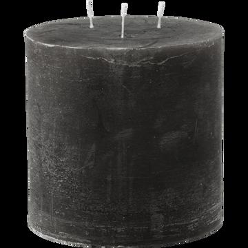 Bougie lanterne coloris gris calabrun D15xH15cm-BEJAIA