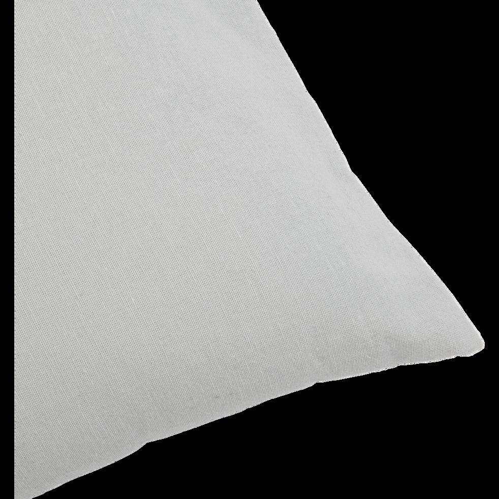 Coussin de sol en coton gris borie 70x70cm-CALANQUES