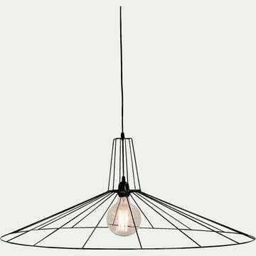 Suspension non électrifiée géométrique en métal noir D90cm-CAPRI