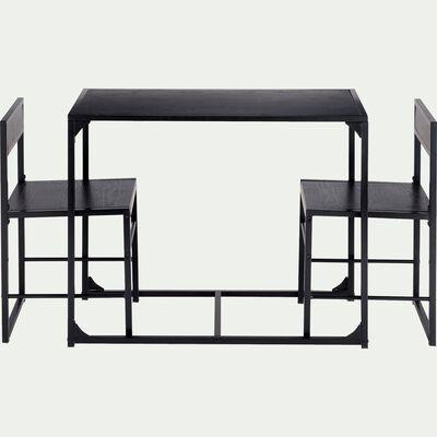 Set d'une table avec 2 chaises-BERTILLE